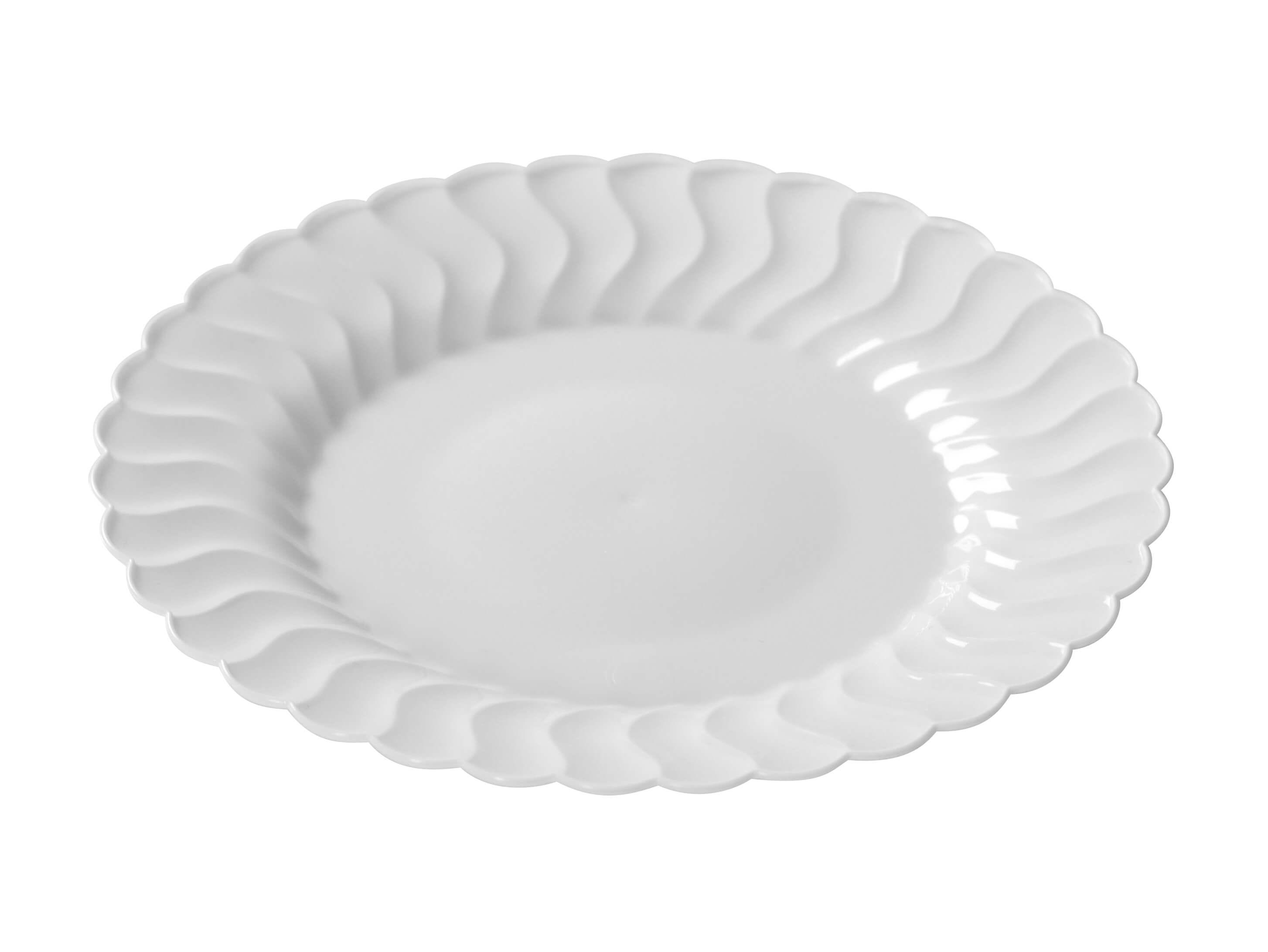 Fineline Flairware 210-WH 10 1/4u2033 White Plastic Plate u2013 18/Pack  sc 1 st  Splyco & Fineline Flairware 210-WH 10 1/4
