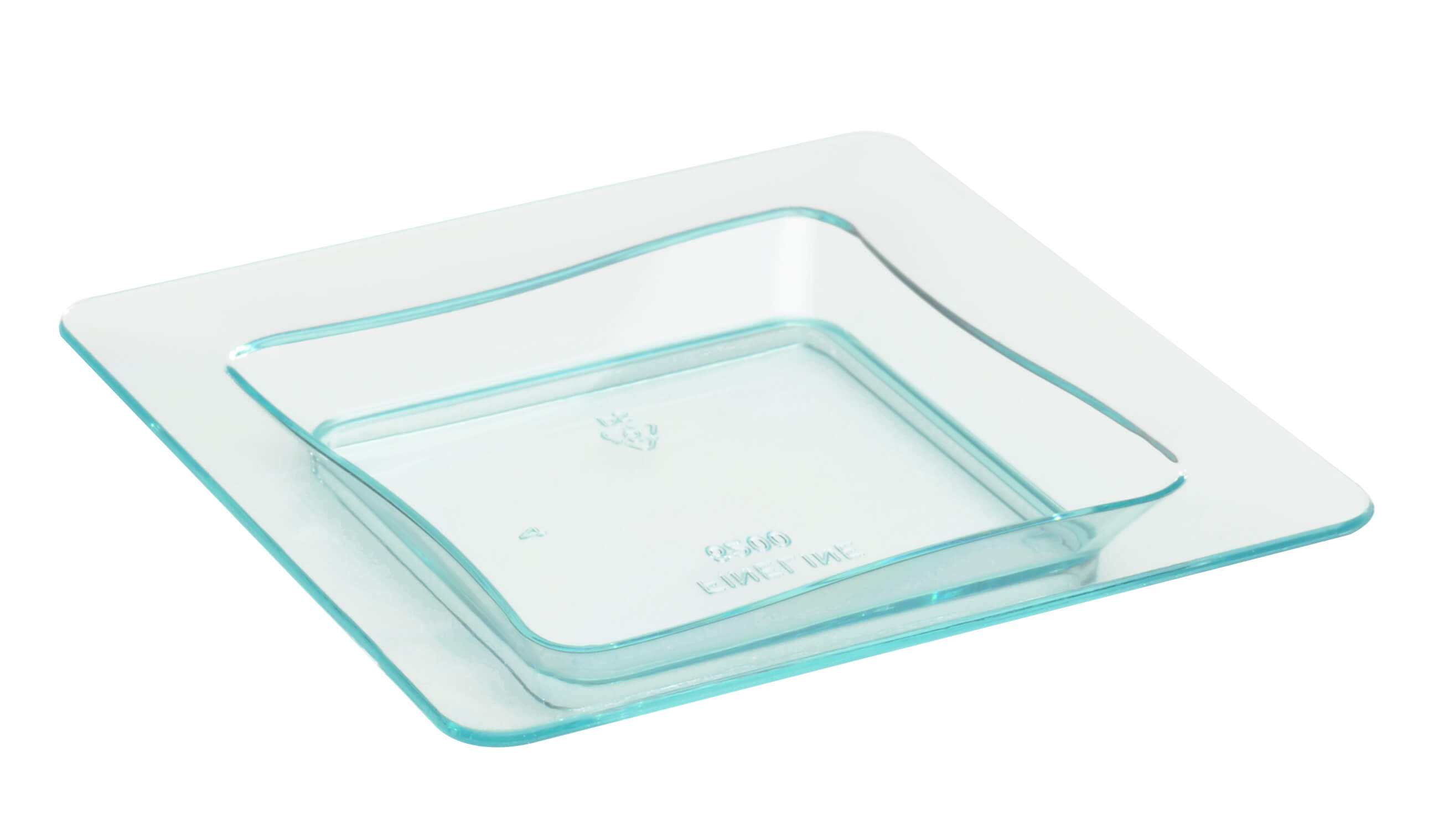 Fineline Tiny Temptations 6200 Grn 3 X 3 Tiny Trays Disposable Green Plastic Tray 10 Pack Splyco