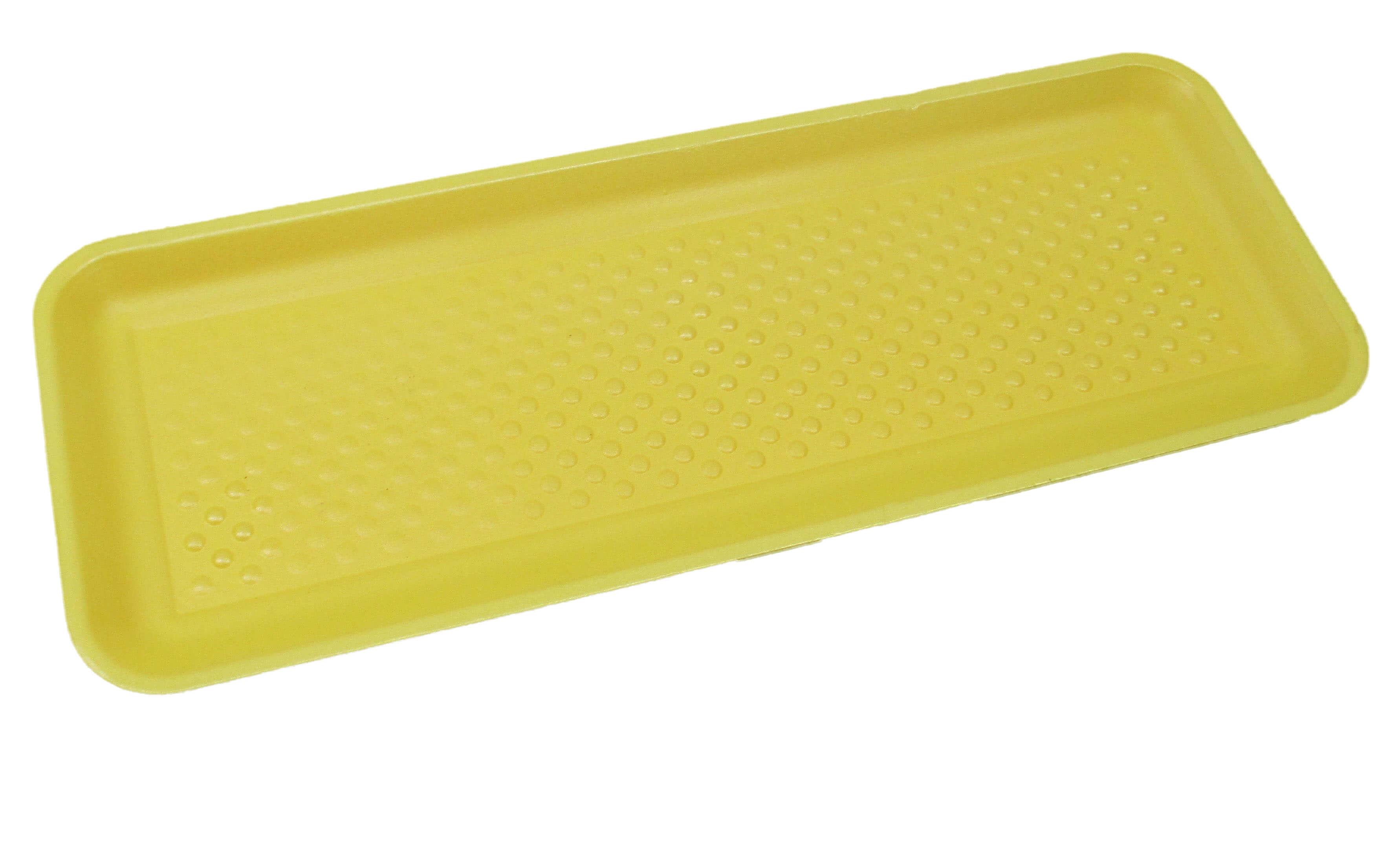 buy online d7048 84181 Genpak 1007S ( 7S) Foam Meat Tray Yellow 14 7 16″ x 5 3 4″ x 15 16″ –  125 Pack
