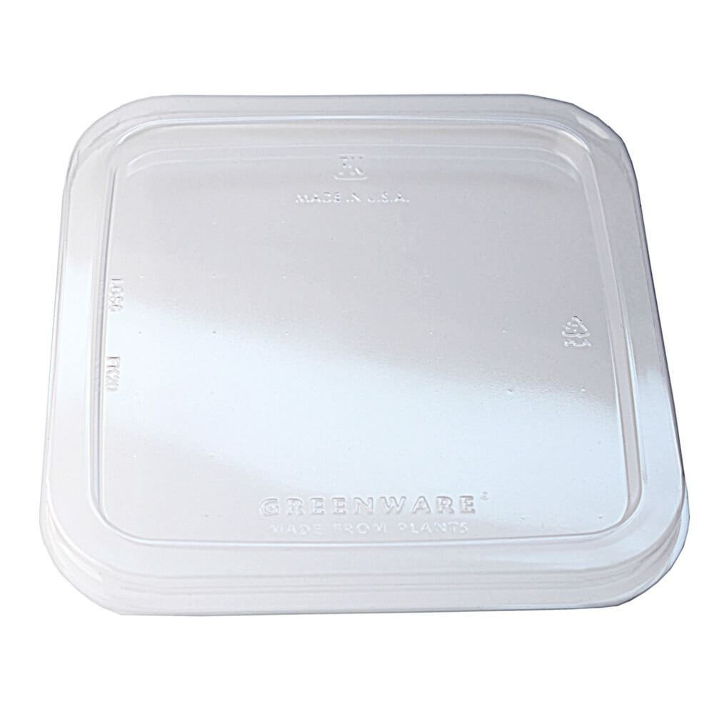 Fabri-Kal Greenware LGS6 Clear PLA Plastic Compostable Lid